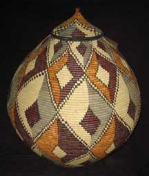 Museum Quality Zulu Art Palm Basket (AB1)