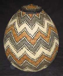 Museum Quality Zulu Art Palm Palm Basket (AB2)