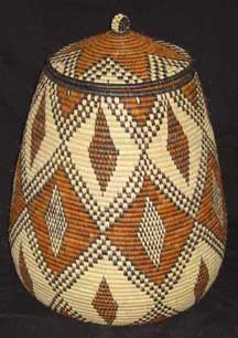 Museum Quality Zulu Art Palm Basket (AB3)