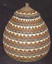 Museum Quality Zulu Art Palm Basket (AB5)